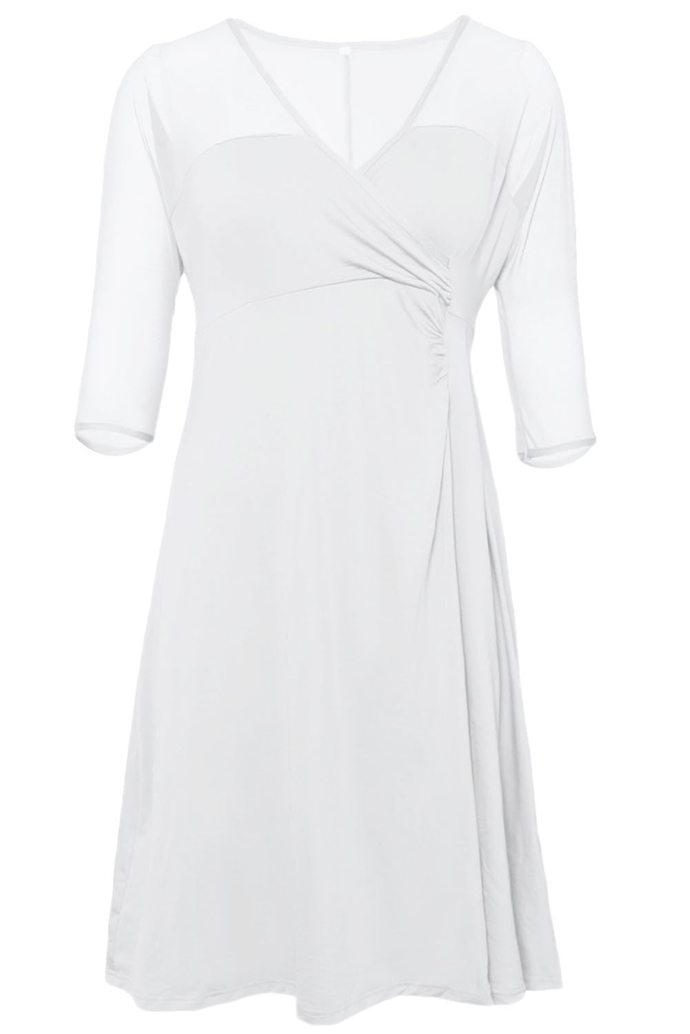 Sugar and Spice Classic White Plus Dress - Budget Babe Couture
