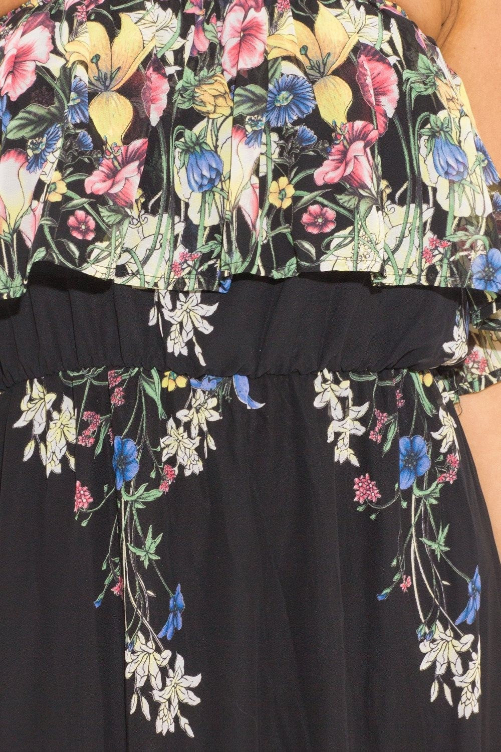 Jasmine Floral Sundress Dress - Budget Babe Couture