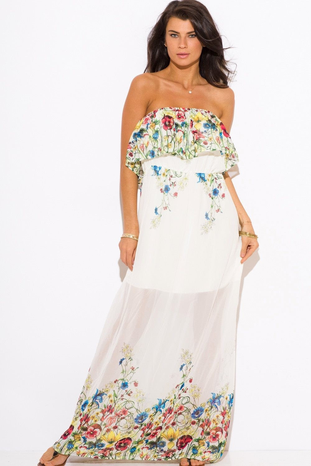 Jasmine Floral Maxi Sun Dress - Budget Babe Couture