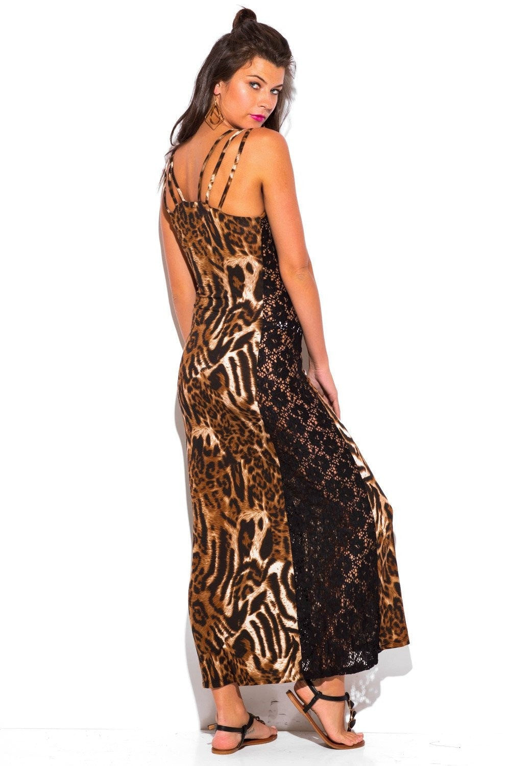 Stacie Animal Printed Lace Dress - Budget Babe Couture