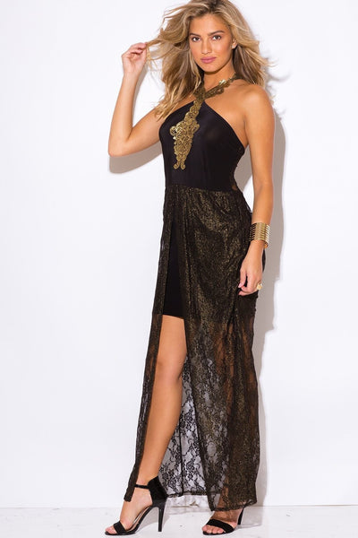Jaime Metallic Lace Dress - Budget Babe Couture