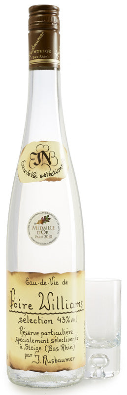 Eau-de-Vie Poire Williams (Pears) Selection 43% Nusbaumer