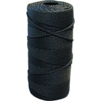 Trot And Bank Line, Black Tarred Twisted Nylon  Size 18 sku003