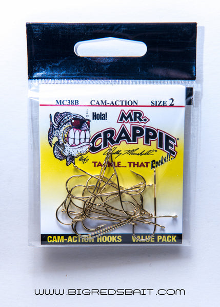 MR. CRAPPIE WALLY MARSHALL CAM-ACTION HOOKS Gold sku002