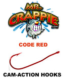 MR. CRAPPIE WALLY MARSHALL CAM-ACTION HOOKS  CODE RED sku002