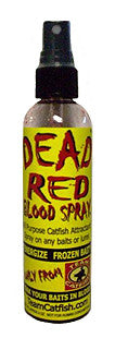 TEAM CATFISH,  DEAD RED BLOOD SPRAY, ATTRACTANT 4oz