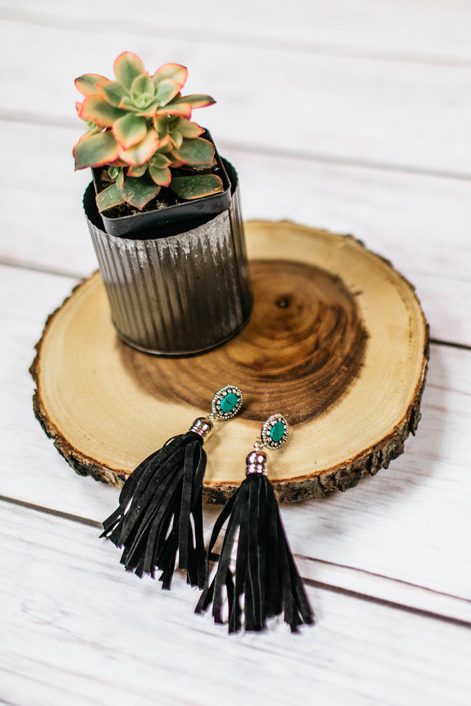 Salt Creek Earrings - Black - Prairie Chic Boutique