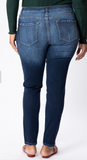 High Waisted Dark Wash Skinny Jean - Plus
