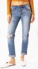 Distressed Spring Cropped Denim