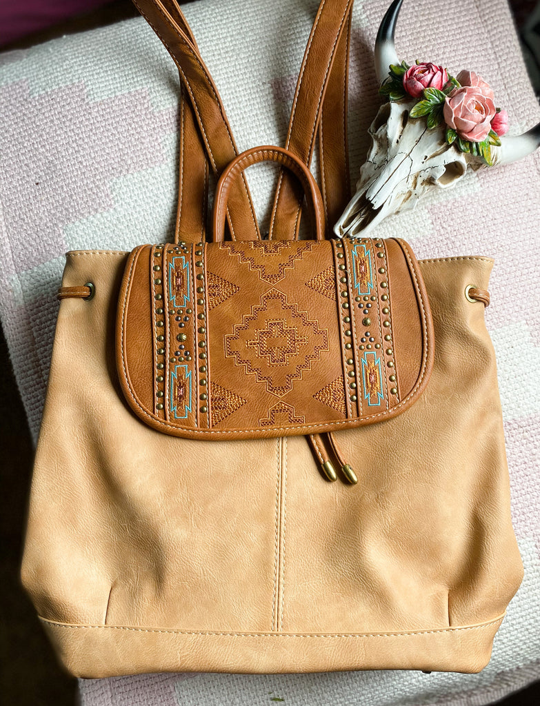 Dallas Embroidered Backpack - Prairie Chic Boutique