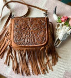 Tooled Fringe Crossbody Purse - Prairie Chic Boutique
