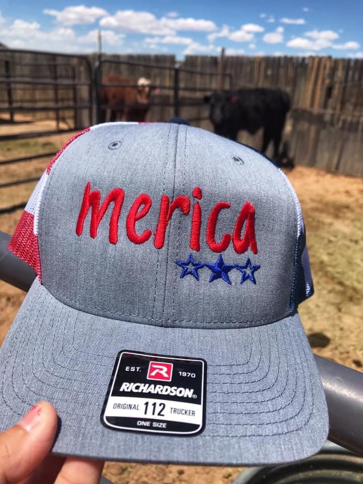 Merica Snap Back Hat - Prairie Chic Boutique