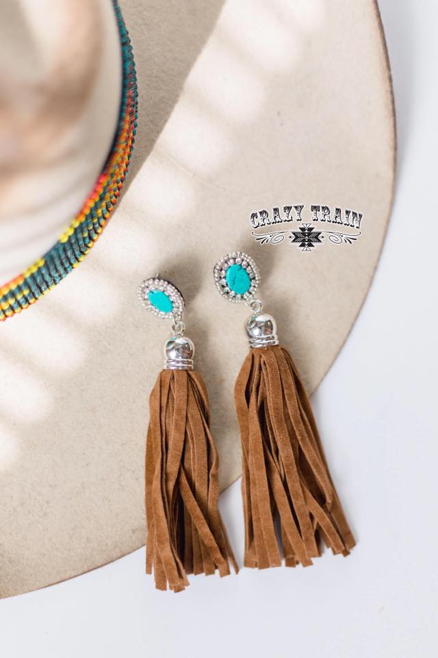 Salt Creek Earrings - Brown - Prairie Chic Boutique