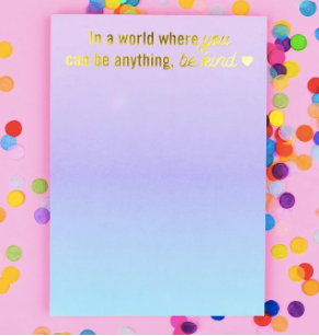Be Kind Notepad - Prairie Chic Boutique