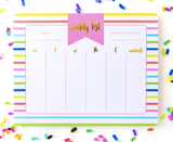 Striped Weekly Planner List Pad - Prairie Chic Boutique