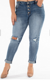 Distressed Spring Cropped Denim - Plus - Prairie Chic Boutique