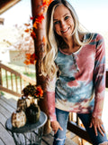 Festival Tie Dye Thermal Top