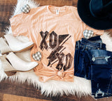 XOXO Peach V-Neck Tee