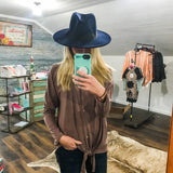 Wide Brim Felt Hat - Prairie Chic Boutique
