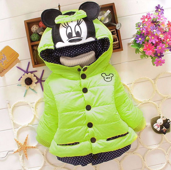 Just In - Christmas Minnie Mouse Warm Hooded Jacket