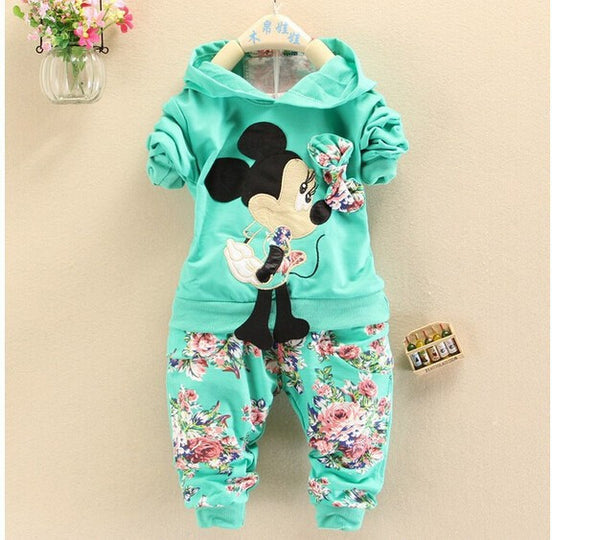 Cute Minnie Mouse Baby Girls Tracksuits Hoodies + Pants - FREE SHIPPING Today