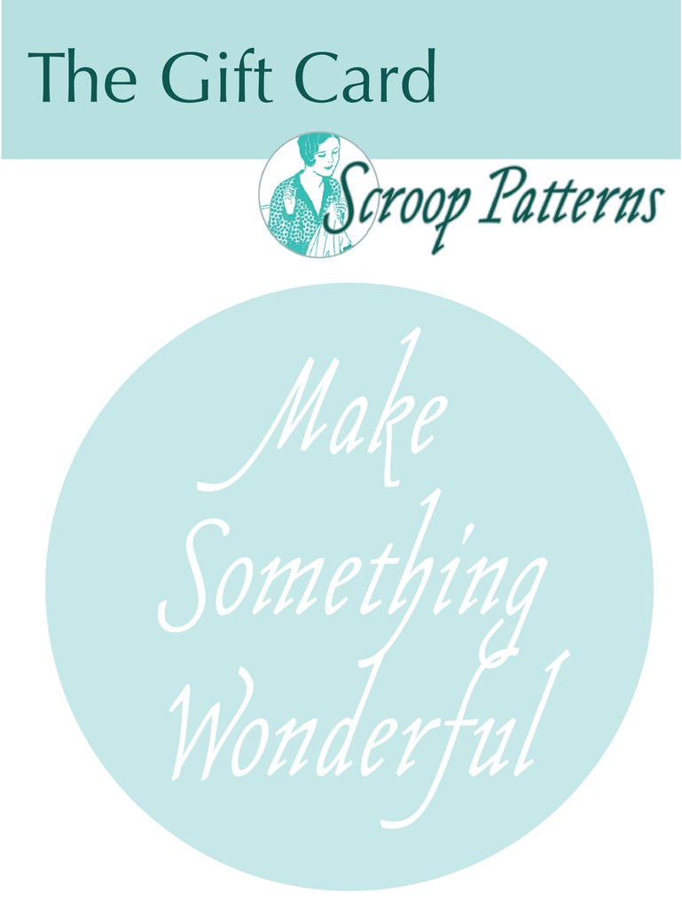 The Scroop Patterns Gift Card