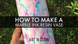 How To: Marble Ink Resin Vase