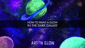 Painting a Glow in the Dark Galaxy with Tracie Kiernan