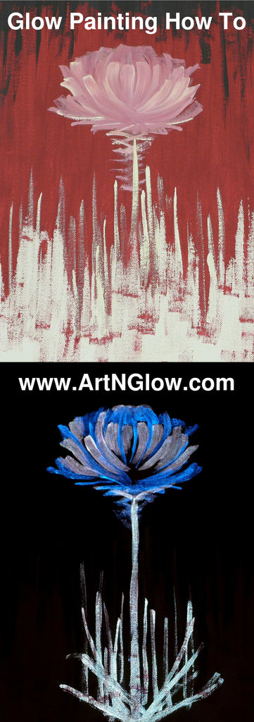 How To Make A Glow In The Dark Canvas Painting Art N Glow