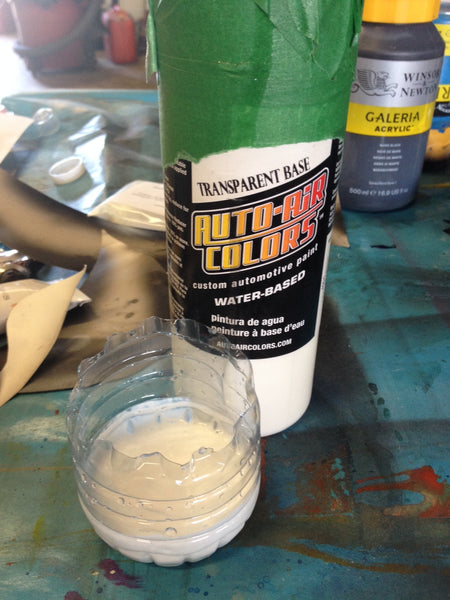glow pigment in transparent base paint