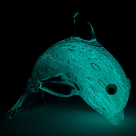 glow in the dark glass dolphin