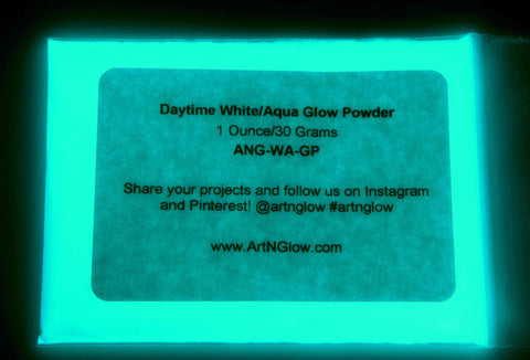 aqua glow in the dark pigment