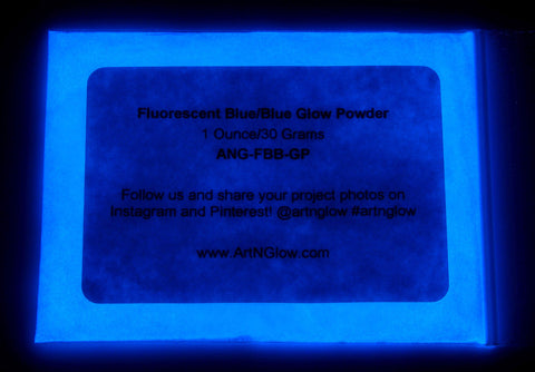 fluorescent blue glow in the dark pigment