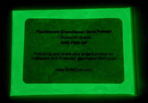 fluorescent green glow in the dark pigment