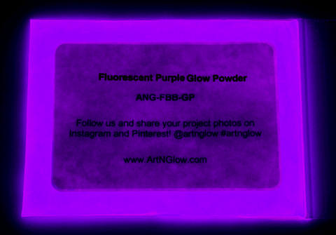 fluorescent purple glow powder