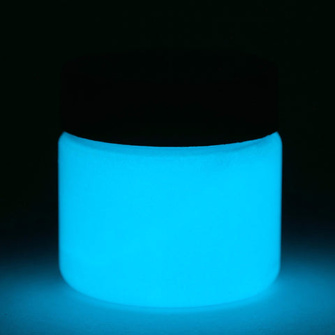 fluorescent blue glow paint