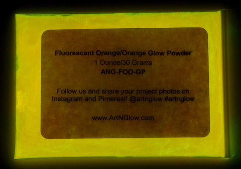 fluorescent orange glow powder pigment