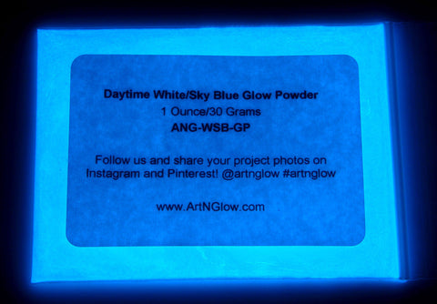 sky blue glow in the dark pigment