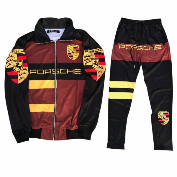 "Eurolux ""Turbo"" Track Suit ""Burgundy"""