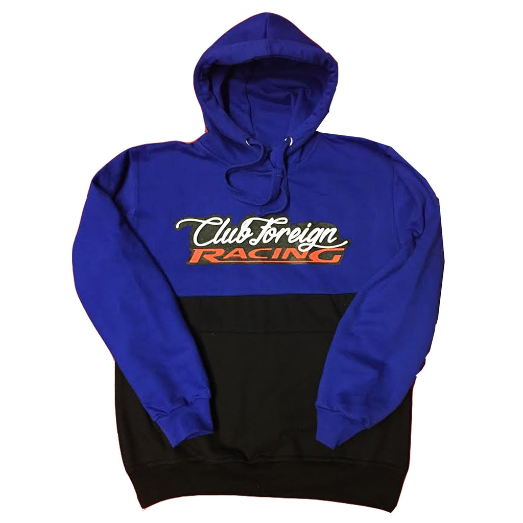 "Club Foreign Racing Hood 2 Tone ""Royal"""