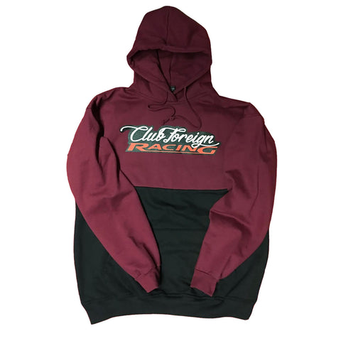 "Club Foreign Racing Hood 2 Tone ""Maroon"""