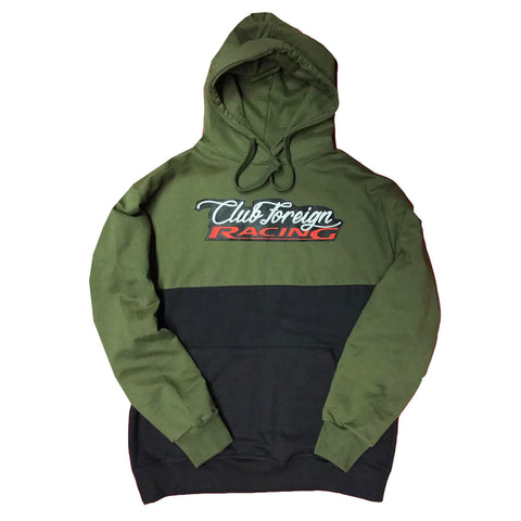 "Club Foreign Racing Hood 2 Tone ""Military"""