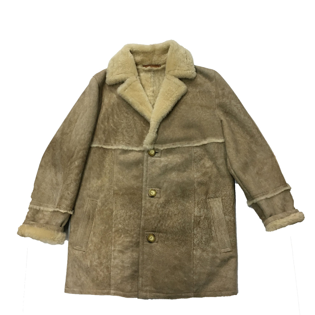 Men's Tan Shearling Jacket