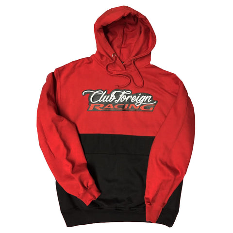 "Club Foreign Racing Hood 2 Tone ""Red"""