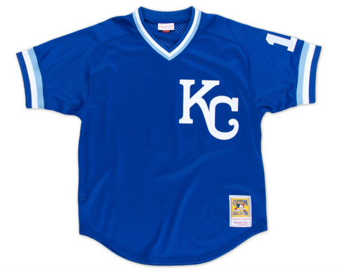 Bo Jackson 1989 Authentic Mesh BP Jersey Kansas City Royals