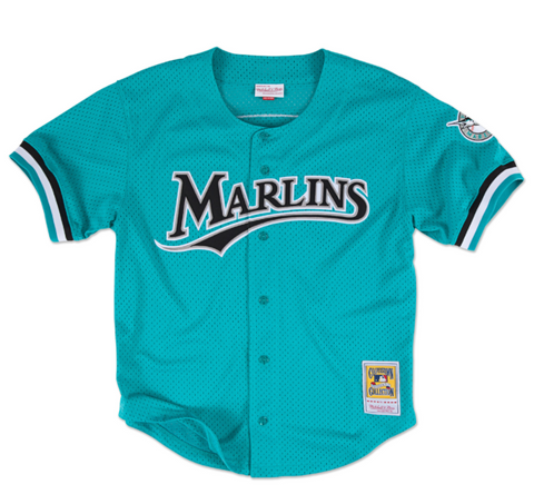 Andre Dawson 1995 Authentic Mesh BP Jersey Florida Marlins