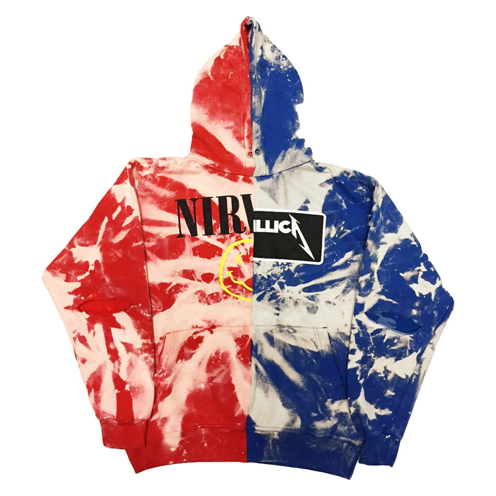"Rock Hard Vintage ""Split"" Hoodie Red/Blue"