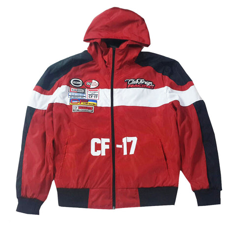 "Club Foreign Racing Windbreaker Jacket ""Red"""