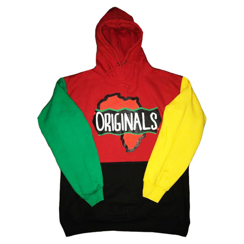 Originals Motherland Afro Hoodie (Red/Black/Green/Yellow)