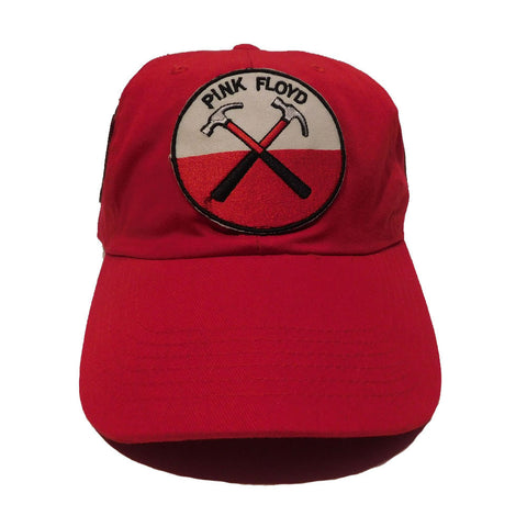 "Rock Hard ""Triple Patched"" Red Strapback Hat"